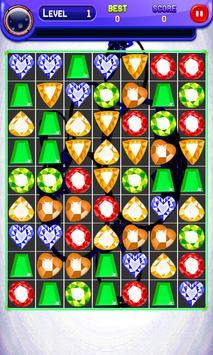 Jewel Match 3 Fire screenshot 1