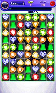 Jewel Match 3 Fire screenshot 2