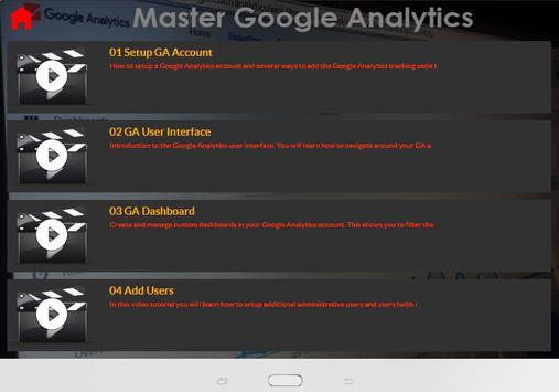Master Google Analytics screenshot 5