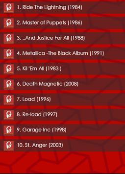 Top 10 Metallica Albums screenshot 1