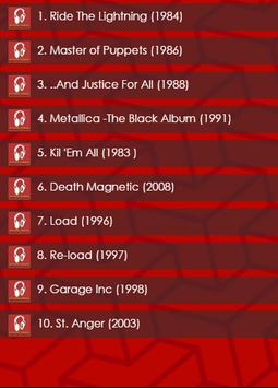 Top 10 Metallica Albums screenshot 4