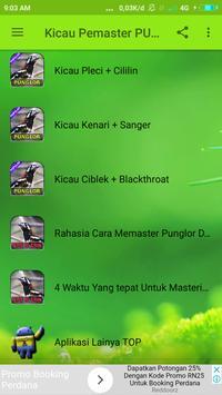Kicau Pemaster Punglor Lengkap poster