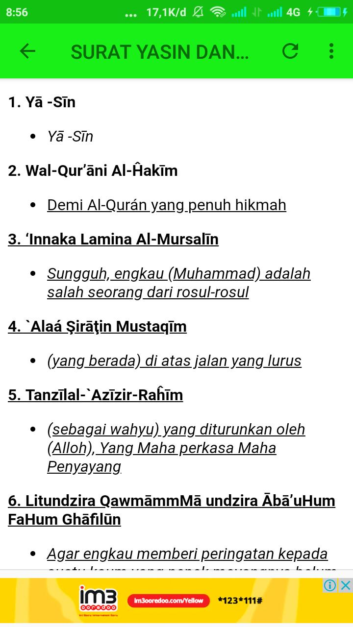Bacaan Surat Yasin Dan Artinya Mp3 For Android Apk Download