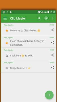 Clip Master Clipboard Manager 4 Android P Launcher poster