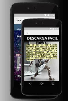 Bajar música gratis a mi celular MP3 guides screenshot 6