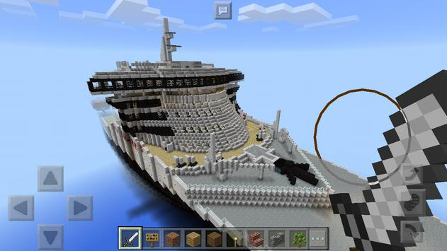 Cruise ship Map for Minecraft poster