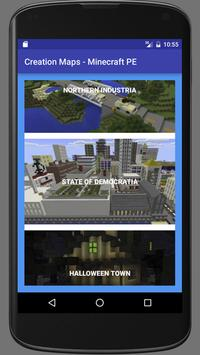 Creation Maps for minecraft poster