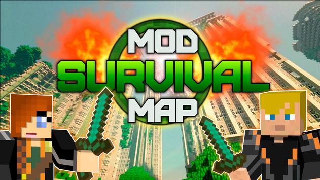 Survival map mcpe poster