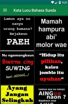 Gambar Kata Bahasa Sunda lucu poster
