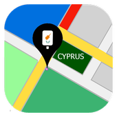 Map of Cyprus icon