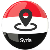 Map of Syria icon