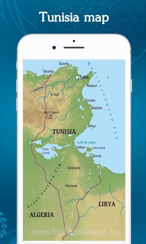 Tunesien Karte.Tunesien Karte Fur Android Apk Herunterladen