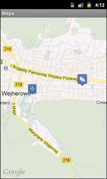 Mapa Wejherowa poster