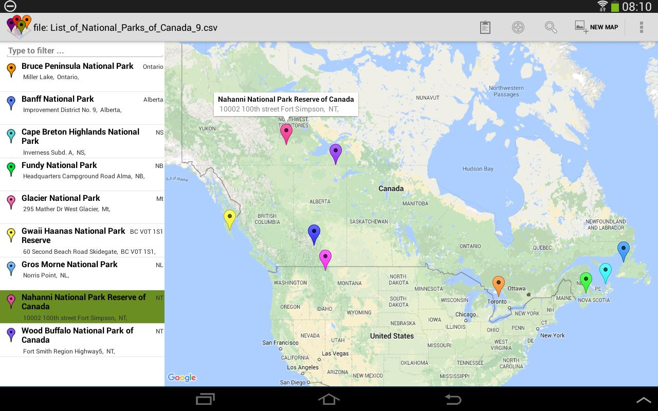 batch geocode multiple markers multiple maps apk screenshot