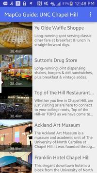 MapCo Guide: UNC Chapel Hill poster