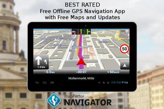 MapFactor GPS Navigation Maps apk screenshot