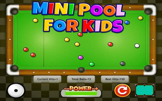 Mini Pool for Kids apk screenshot