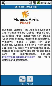 Business Startup Tips apk screenshot