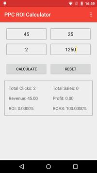 PayPerClick ROI Calculator apk screenshot