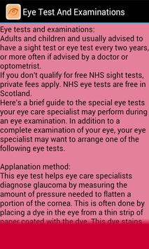 Eye Test & Examinations apk screenshot