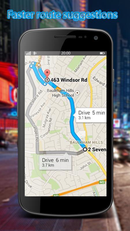 gps map navigation driving directions traffic live apk screenshot