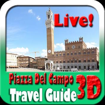 Piazza Del Campo Siena Maps and Travel Guide 海報