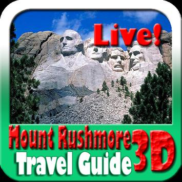 Mount Rushmore Maps and Travel Guide poster