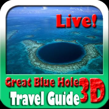 Great Blue Hole Belize Maps and Travel Guide poster