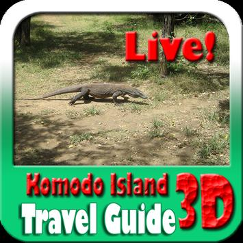 Komodo Island Indonesia Maps and Travel Guide poster