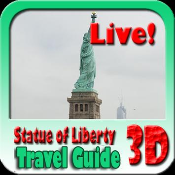 Statue Of Liberty Maps and Travel Guide poster