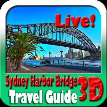 Sydney Harbor Bridge Maps and Travel Guide poster