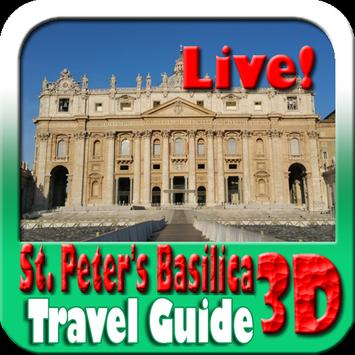 St Peter's Basilica Maps and Travel Guide poster