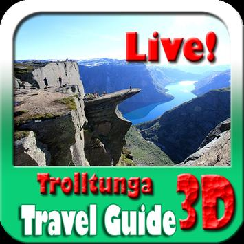 Trolltunga Norway Maps and Travel Guide poster