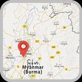 Myanmar Map icon