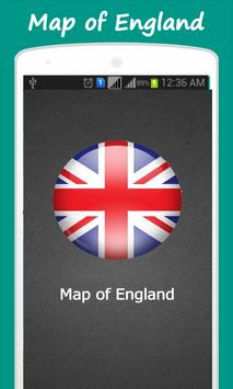 Map of England poster
