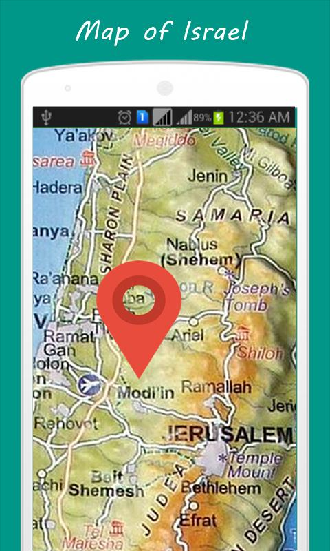Map of Israel for Android - APK Download