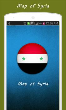 Map of Syria poster