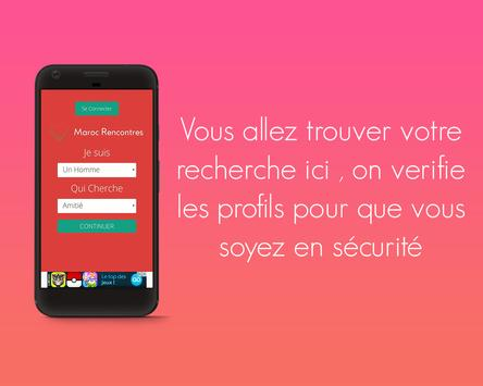 MarocRencontres -Appli de rencontres 100% gratuite screenshot 1