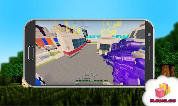 Map FS NUK3TOWN PvP for MCPE poster