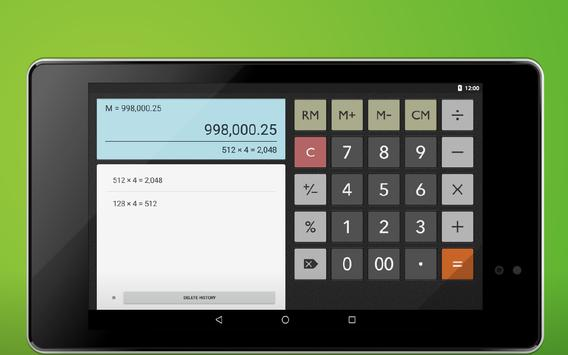 Calculator Memory & Percent apk screenshot