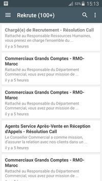 Maroc Recrute apk screenshot