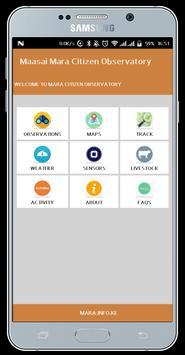 Mara Citizen Observatory App poster