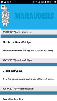 Marauders FC apk screenshot