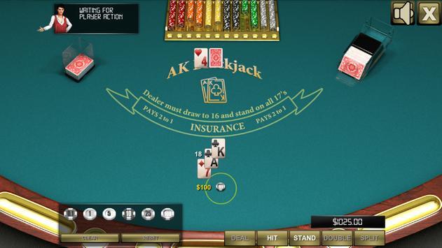 AK Blackjack captura de pantalla 1