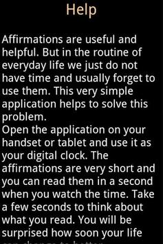 Affirmations Digital Clock screenshot 2