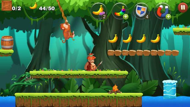 Jungle Monkey Run captura de pantalla de la apk