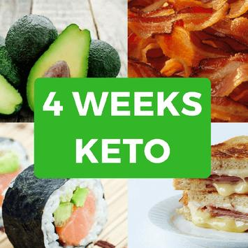 Ketogenic Diet Plan - 4 Weeks poster