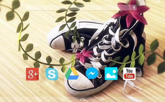 Flower sneakers Live Wallpaper apk screenshot