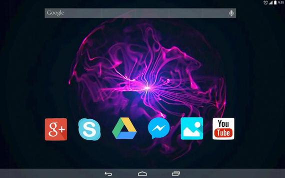 Plasma Ball Live Wallpaper apk screenshot