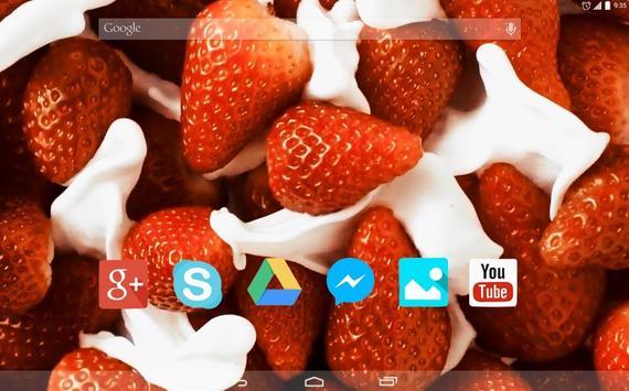 Strawberry and Cream Live WP apk screenshot